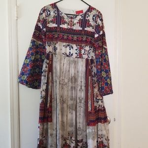 Anthropologie sahra printed dress
